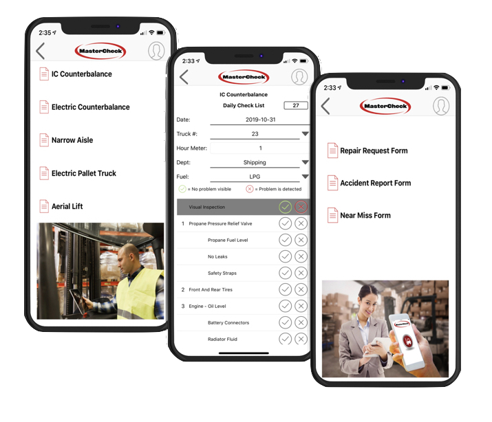 mastercheck forklift safety app