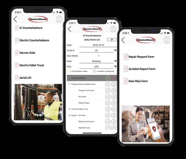 mastercheck forklift safety app