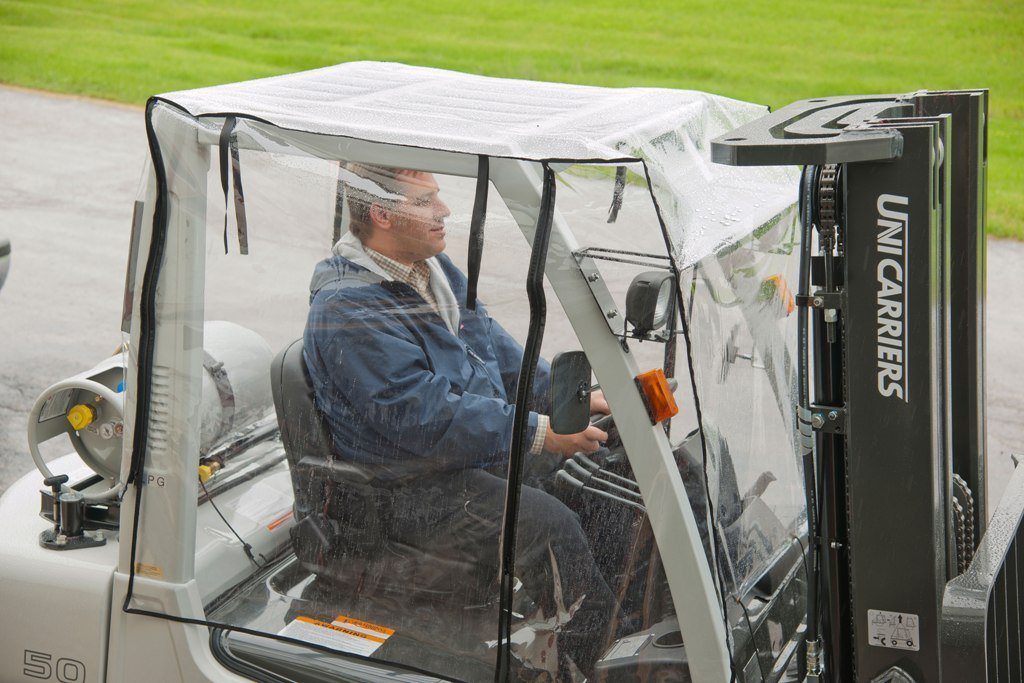 forklift safety rain cover