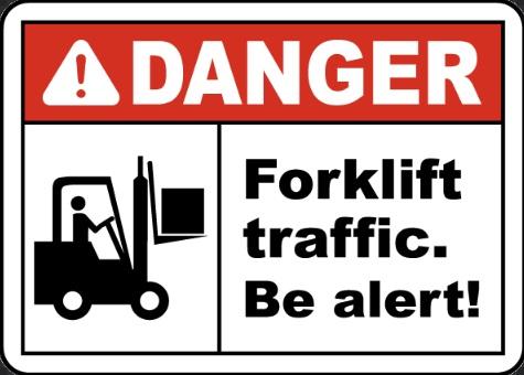 forklift danger sign